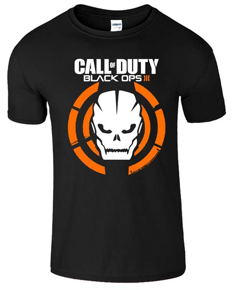 Tshirt Electrohel Iii Black B C call of duty t shirt black ops iii tshirt logo