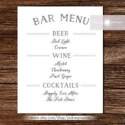 free printable wedding menu template bar menu templates 35 free psd eps documents