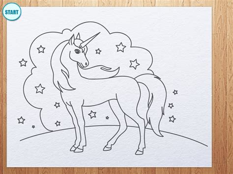 6 Drawing Lessons by How To Draw Unicorn Drawing Lessons For