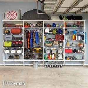 Garage Shelving Family Handyman Wire Shelving Melamine Garage Storage Plans The Family