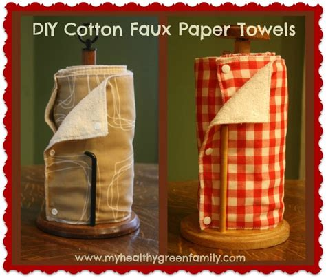 Make Your Own Paper Towels - creative ideas for getting rid of disposable paper