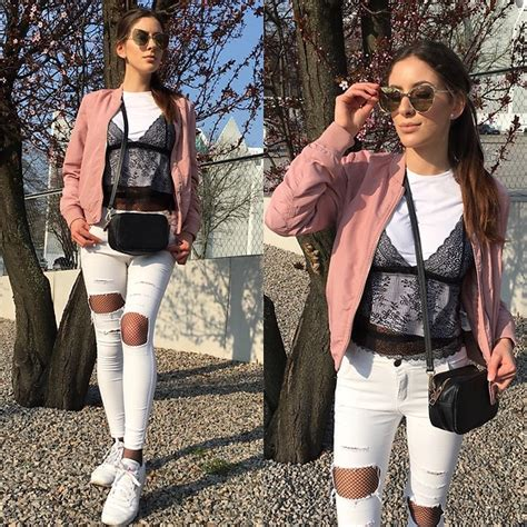 Reebok Royal Flag Global Denim laila szaranek stradivarius pink bomber jacket zara