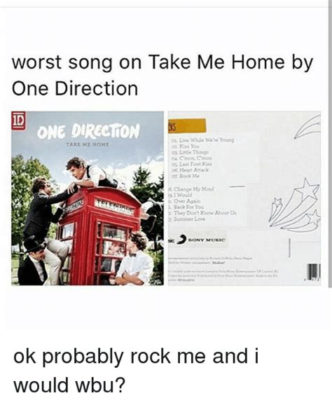 worst song on take me home by one direction id one