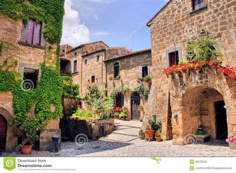 Courtyard Plans by Italian Village Royalty Free Stock Photo Image 32672245