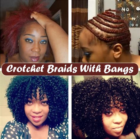 how to crochet braids with bangs crotchet braids with a bang including braid pattern