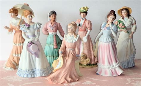home interior collectibles homco victorian lady figurines sercadia