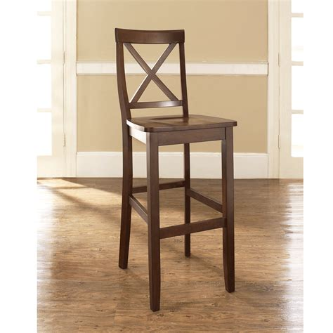 30 seat height bar stools x back bar stool in mahogany finish with 30 inch seat height set of 2 modern marketing