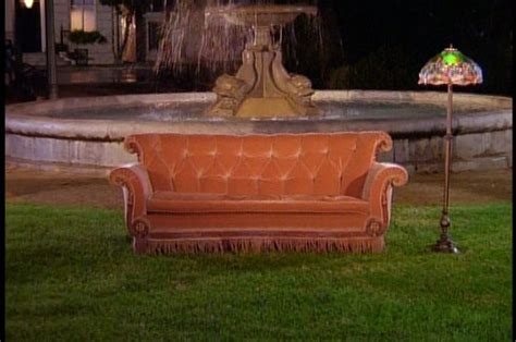 friends orange couch central perk sofa sold home everydayentropy com