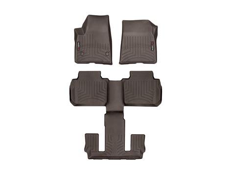 weathertech floor mats floorliner for gmc acadia w bucket seats 2017 ebay