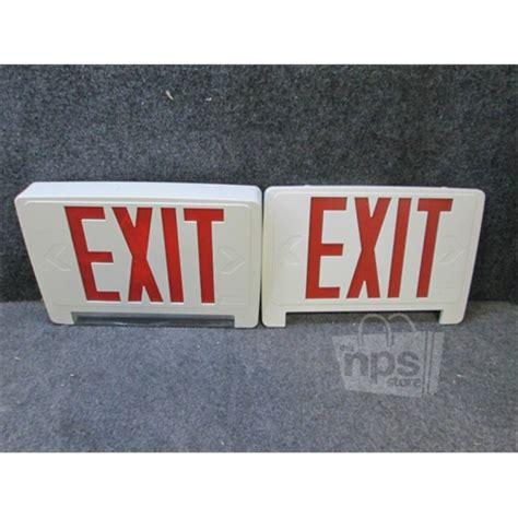 exit emergency light combo lithona lighting ecbr led m6 led exit unit combo with
