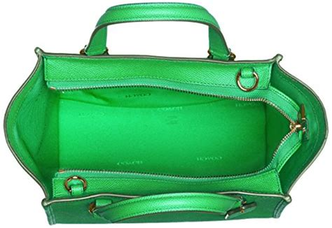 Tas Coach Crosby Mini Green coach crossgrain leather mini crosby satchel crossbody li