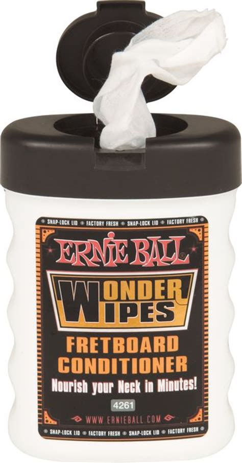 Ernie 4276 Wipes Fretboard Conditioner 6 Pack guitar maintainence supplies guitar cleaning and polishing supplies
