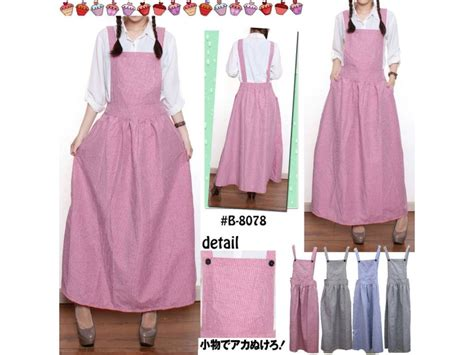 Gita Overall Skirt Rok Kodok Panjang jumpsuit dress katun yandet 8078