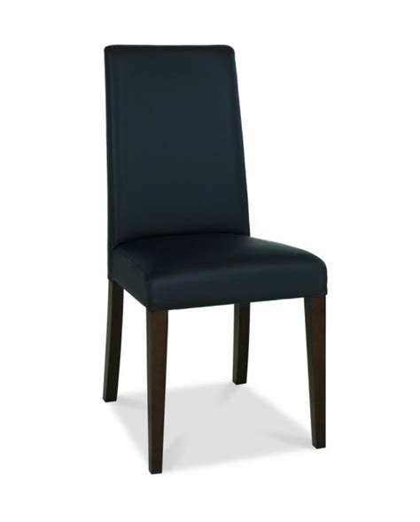 Bentley Designs Akita Taper Back Brown Faux Leather Bentley Dining Chairs