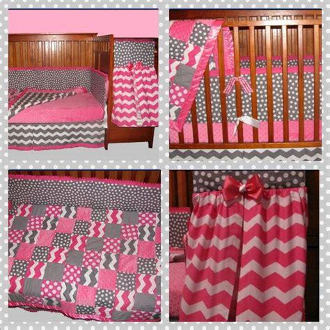 polka dot crib bedding baby girl crib bedding pink grey chevron polka dot
