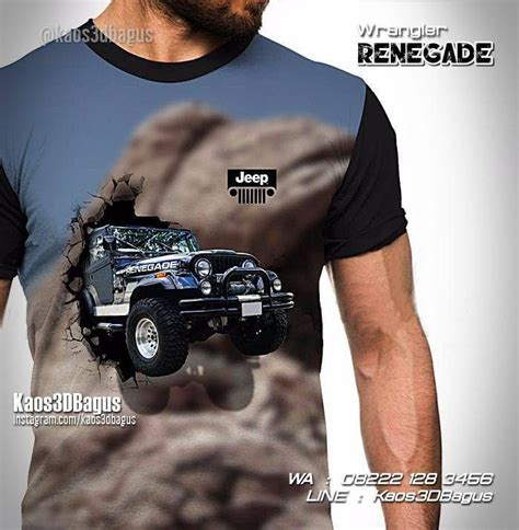 Kaos Jeep Wrangler 4x4 Road kaos jeep