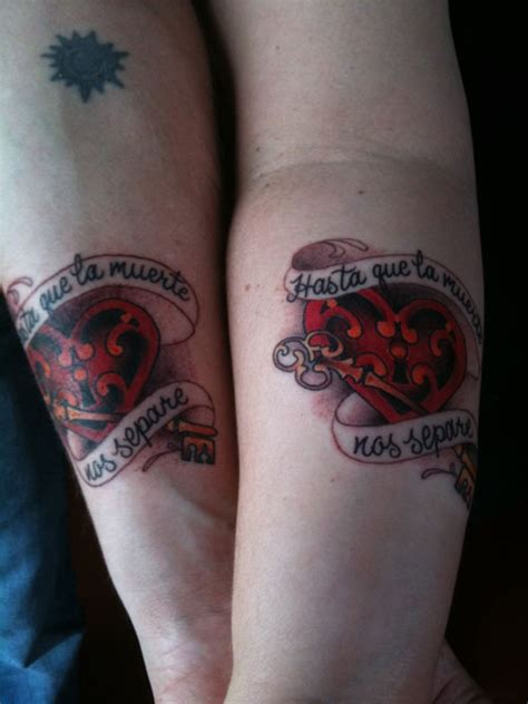 adorable matching tattoos  lovers creativefan