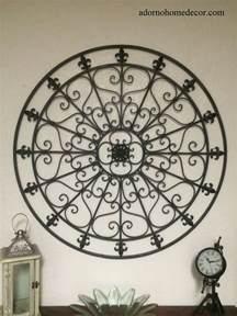 Wrought Iron Wall Decor Scroll Fleur De Lis large wrought iron wall decor rustic scroll fleur de