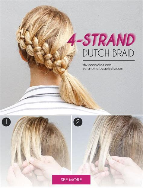 1000 ideas about 4 strand braids on four strand braids hair braiding and how