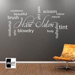 hair salon collage wall vinyl sticker hairdressers