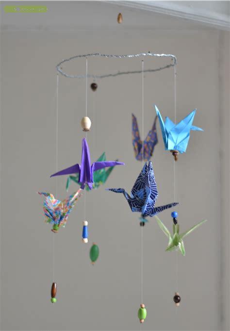How To Make An Origami Mobile - diy un joli mobile en origami les bo 238 tes de