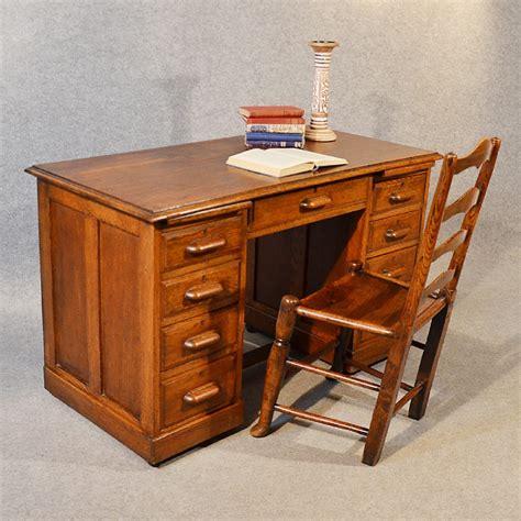 antique study table antique desk oak pedestal writing