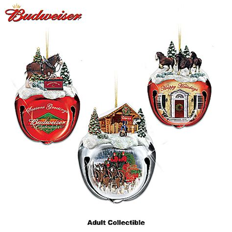 budweiser clydesdales sleigh bells christmas tree