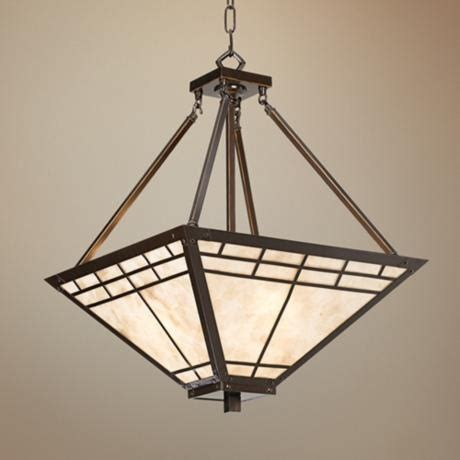 Ls Plus Chandelier Mission Style Chandelier Shop Portfolio 4 Light Mission Bronze Style Chandelier At Lowes