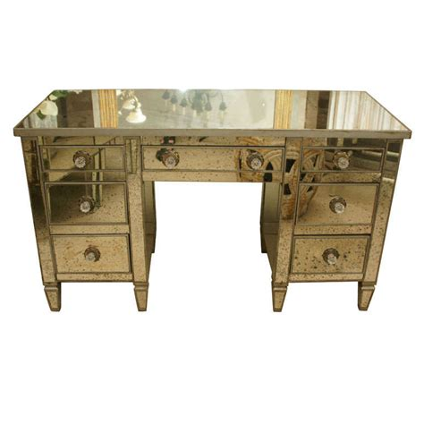 mirrored 6 drawer dressing table art deco 7 drawer mirrored dressing table desk at 1stdibs