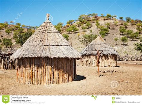 L Hut by Traditional Huts Namibia Stock Image Image