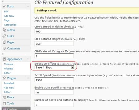 create featured posts section in wordpress blog
