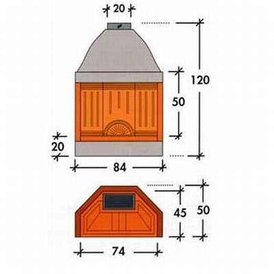 camino prefabbricato grezzo edil 2000 srl alfa refrattari caminetto ecomax mini