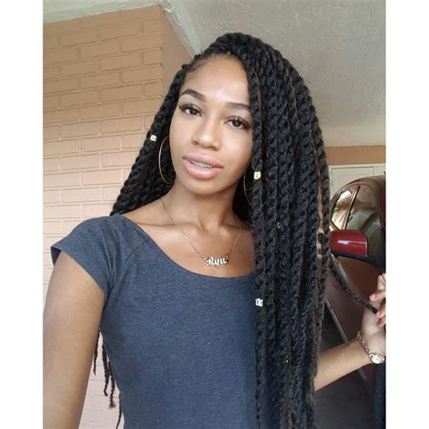 using sythetic brazillian hair for flat twist styles crochet braid twist samba twist youtube