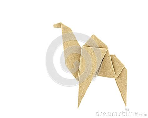 Origami Camel - origami camel recycle paper royalty free stock photography
