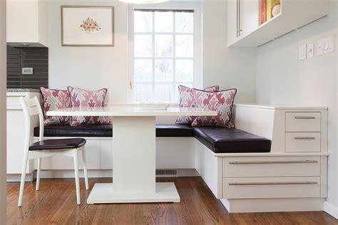 contemporary banquette contemporary banquette with storage maximizes the kitchen