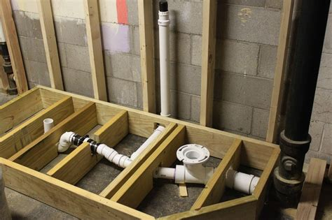 how to build a bathroom in a basement raised bathroom the first step in building the raised