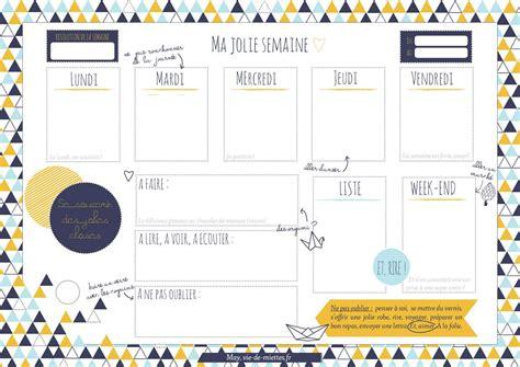 Calendrier Par Semaine Imprimez Semainier Planning De Semaine Agenda