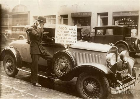 100 great street photographs wall street crash 1929 photograph by granger