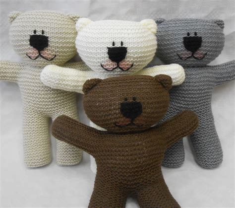 how to knit a simple teddy teddy easy knit pattern suitable for beginner