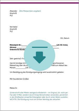 kuendigung mietvertrag ratgeber und kostenlose downloads