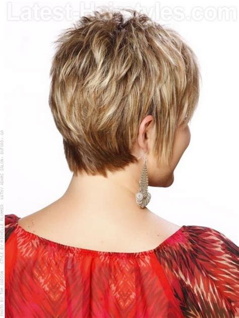 short shag hairstyles back view short hairstyles from the back