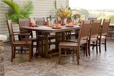 Handcrafted Dining Room Tables by Amish Outdoor Wood And Polywood Dining Tables From
