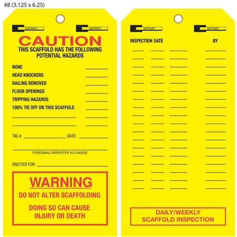 printable scaffold tags scaffold inspection gallery