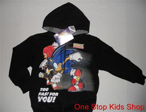 Hoodie Sonic The Hedgehog sonic the hedgehog 4 5 6 7 8 top hoodie sweatshirt jacket sweater ebay