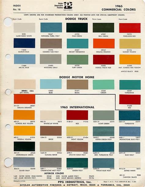 peterbilt color chart autos post