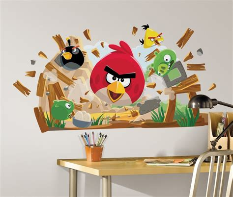 Wallborder Motif Angry Bird wall decals for rooms modern magazin