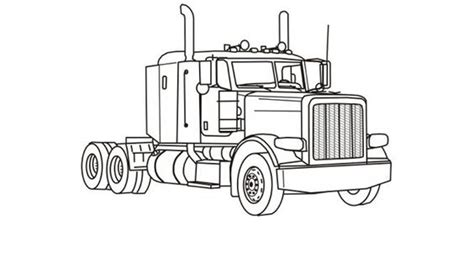 Semi Coloring Pages by 91 Semi Truck Coloring Pages Semi Truck Drawing