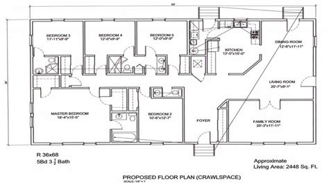 5 Bedroom Plans by 5 Bedroom Ranch Floor Plans 5 Bedroom Ranch Floor Plans 5