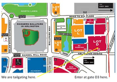 texas rangers parking map texas rangers tailgate 17 around arlington meetup arlington tx meetup