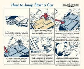 Jumper Cables Connected Car Wont Start How To Jump Start A Car The Of Manliness